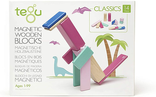 Tegu: 14pc Magnetic Wooden Blocks (Blossom)