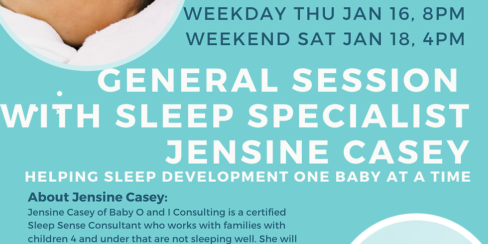 FREE! General Session with Sleep Specialist Jensine Casey