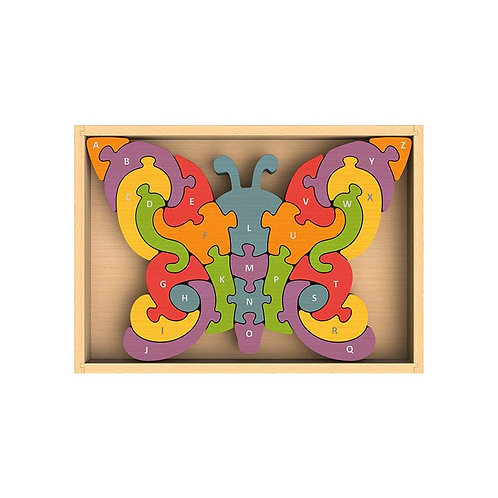 Begin Again Toys: Butterfly A to Z Alphabet Puzzle