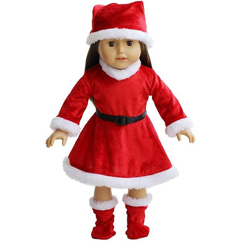 Santa Dress Doll Clothing (doll not included)