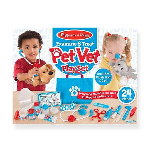 Melissa & Doug: Examine & Treat Pet Vet Play Set