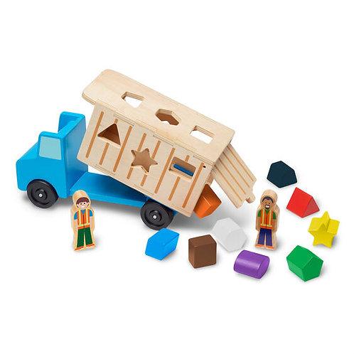 Melissa & Doug: Wooden Dump Truck Play Set & Shape Sorter