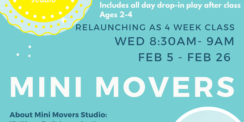 Mini Movers Creative Movement class - 4 Week Session
