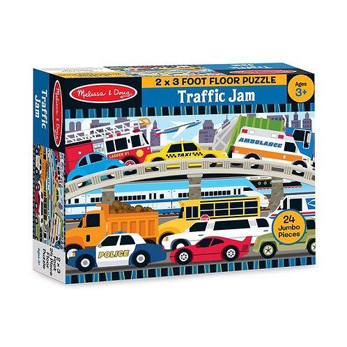 Melissa & Doug: 24pc Floor Puzzle (Traffic Jam)