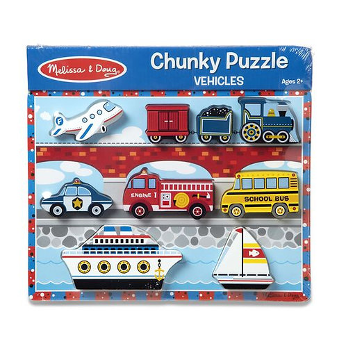 Melissa & Doug: 9pc Chunky Puzzle (Vehicles)