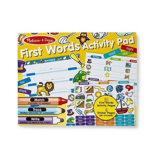 Melissa & Doug: First Words Activity Pad