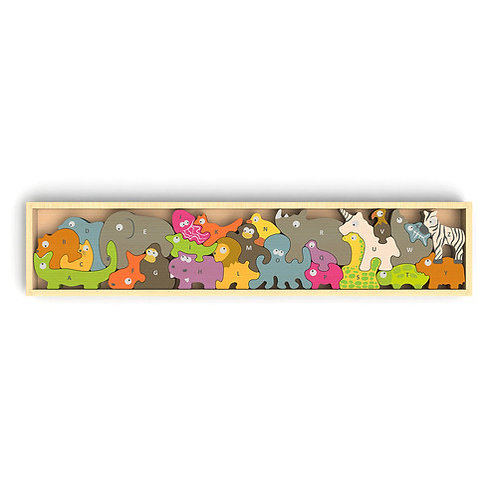 Begin Again Toys: Animal Parade A to Z Puzzle & Playset