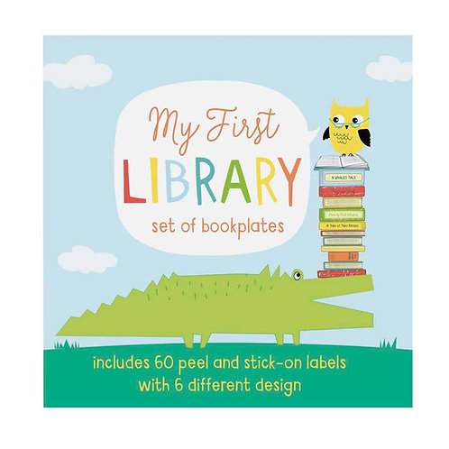My First Library - Name Plate Book Stickers