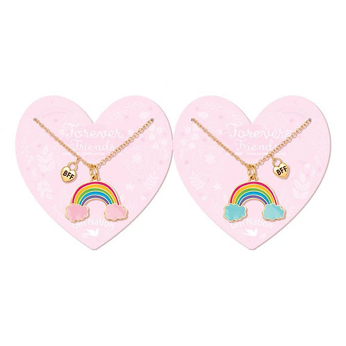 Best Friends Forever Necklaces (Rainbow Friends)