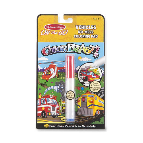 Melissa & Doug: ColorBlast No-Mess Coloring Pad (Vehicles)