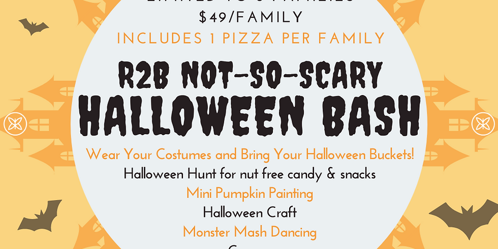 Kids Halloween Bash with Pizza - Saturday 5pm - 6:30pm