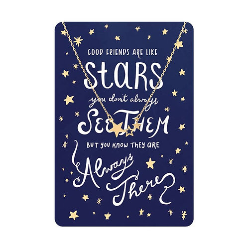 Necklace Card (Friends Are Like Stars)