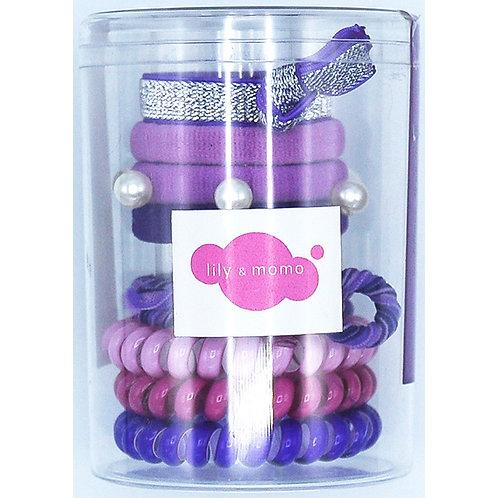 Hair Ties Color Pop Set (Purple)