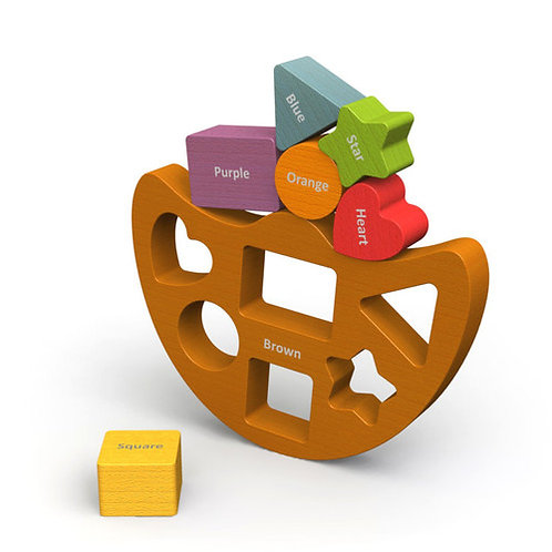 Begin Again Toys: Balance Boat Shapes & Colors