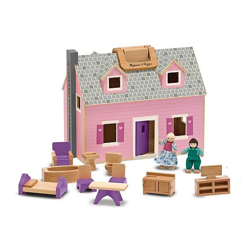 Melissa & Doug: Fold & Go Mini Dollhouse