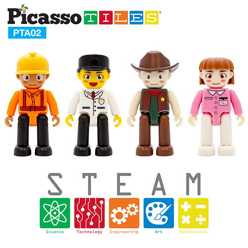 PicassoTiles: 4 piece Professional Character Set