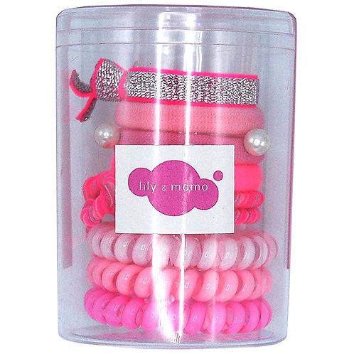 Hair Ties Color Pop Set (Pink)