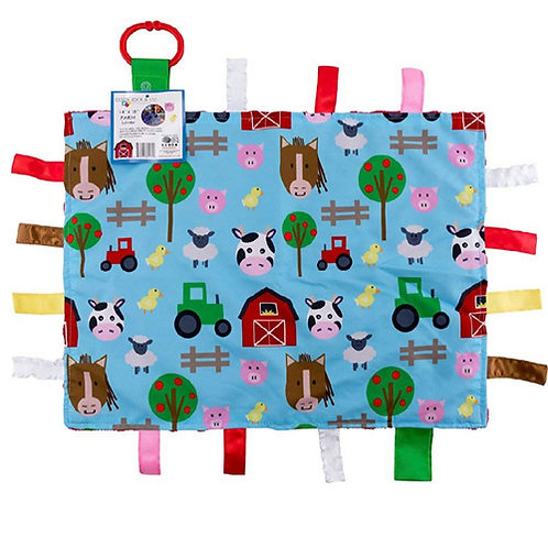 Crinkle Tag Lovey - Blanket (Farm)