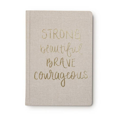 Fabric Journal (Strong Beautiful Brave Courageous)