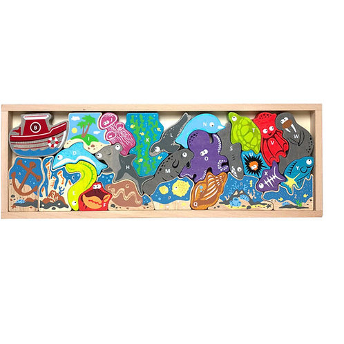 Begin Again Toys: Ocean A to Z Puzzle & Playset