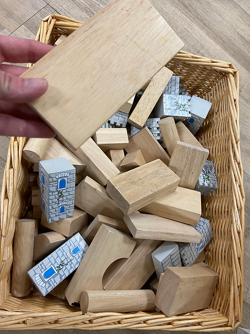 Large Bin of Wood Blocks - USED (unavailable for shipping due to size)