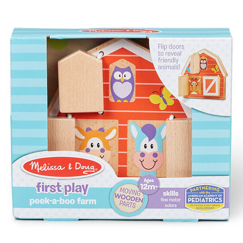 Melissa & Doug: First Play Peek-a-Boo Farm