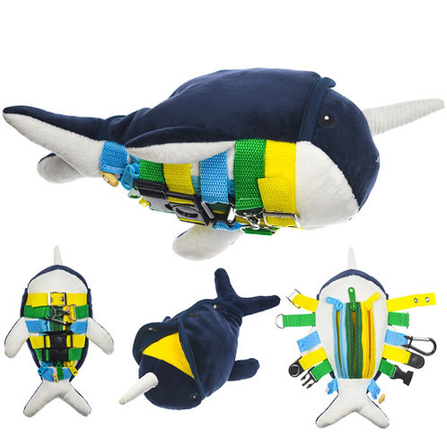 Sensory Plush Buckle Shark