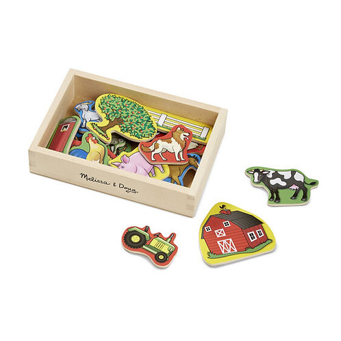 Melissa & Doug: Wooden Magnets (Farm)