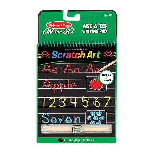 Melissa & Doug: Scratch Art (ABC & 123 Writing Pad)