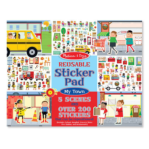Melissa & Doug: Reusable Sticker Pad (My Town)
