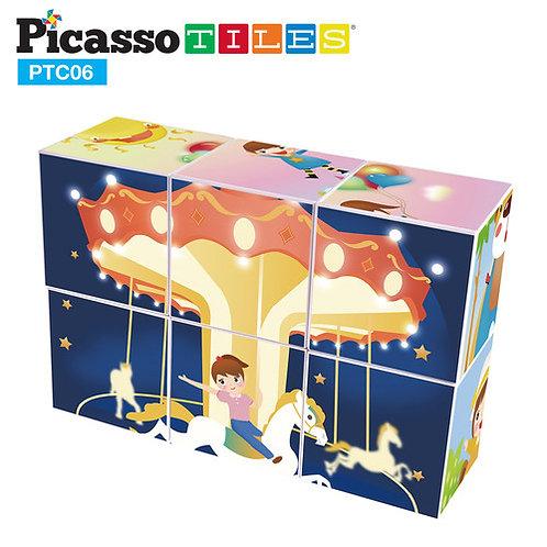 PicassoTiles: Mini Magic Cube Set 3D Magnetic Puzzle
