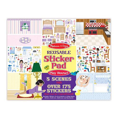 Melissa & Doug: Reusable Sticker Pad (Play House!)