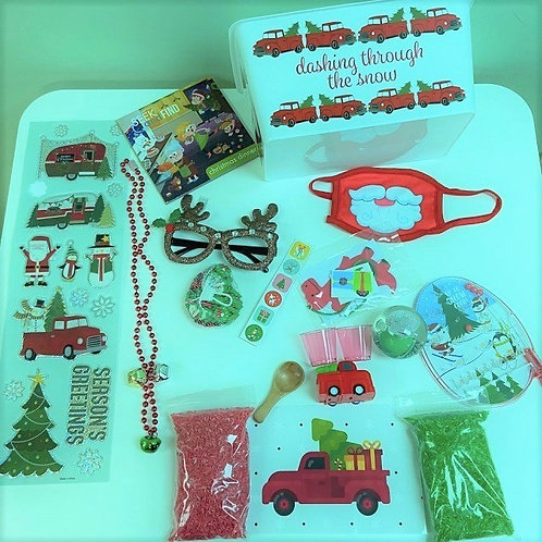 Little Red Truck Activity Kit (child's face mask is sold out)