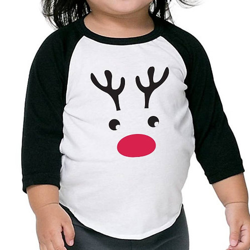 Rudolph the Red Nosed Reindeer - Toddler Baseball Tee