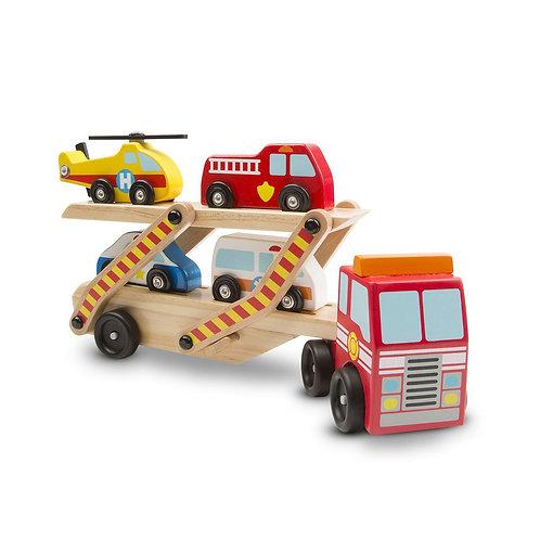 Melissa & Doug: Emergency Vehicle Carrier