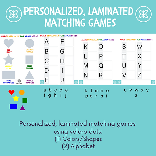 Personalized, Laminated Matching Games