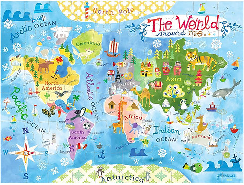 60pc World Map Puzzle