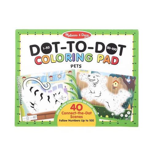 Melissa & Doug: ABC 123 Dot-to-Dot Coloring Pad (Pets)