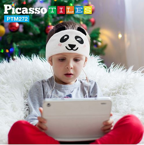 PicassoTiles: Fleece Headphones (Panda)