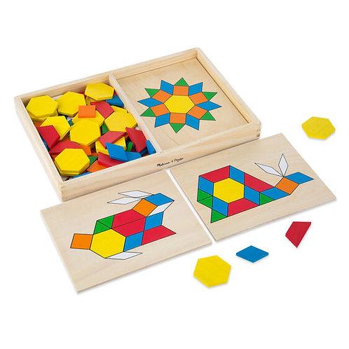 Melissa & Doug: Pattern Blocks and Board