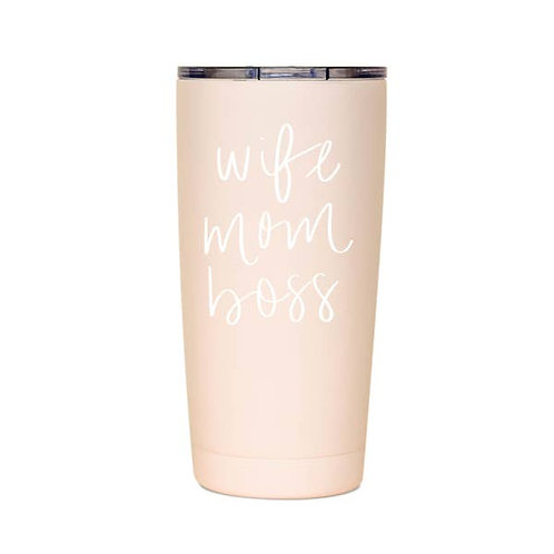 Wife Mom Boss - Metal Travel Mug