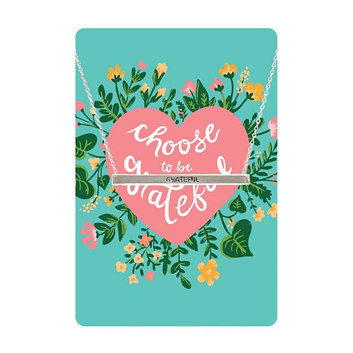 Necklace Card (Choose To Be Grateful)