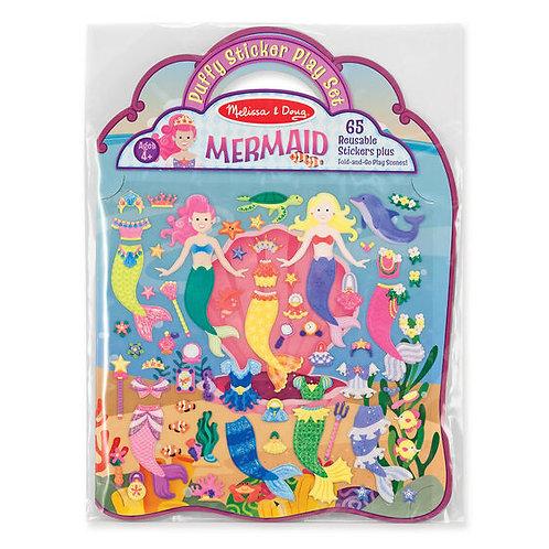 Melissa & Doug: Puffy Stickers Play Set (Mermaid)