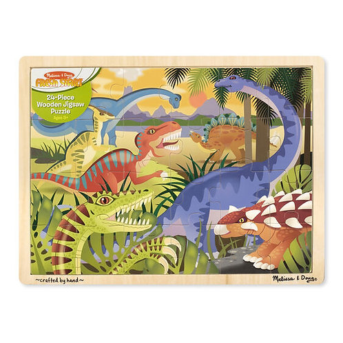 Melissa & Doug: 24pc Wooden Jigsaw Puzzle (Dinosaur)
