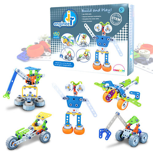 150pc Jr Engineer Build & Play - Robot & Airplane
