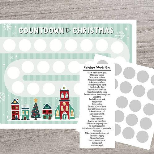 Scratch-off Advent Calendar (Holiday Town)