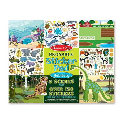 Melissa & Doug: Reusable Sticker Pad (Habitats)