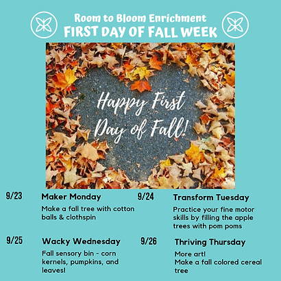 First Day of Fall Week