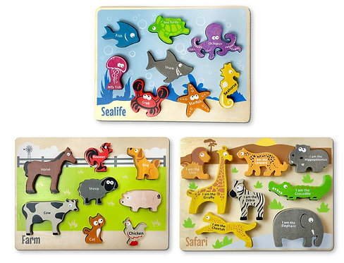 Begin Again Toys: Animal Puzzles (3 Choices)