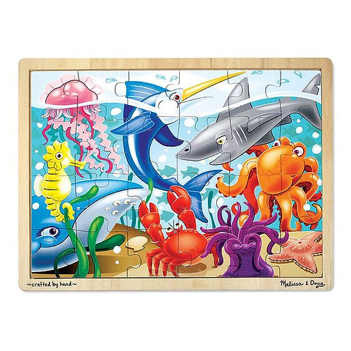 Melissa & Doug: 24pc Wooden Jigsaw Puzzle (Under the Sea)